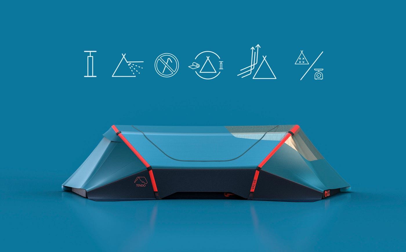 Innovatives aufblasbares Zeltkonzept aus Niedersachsen