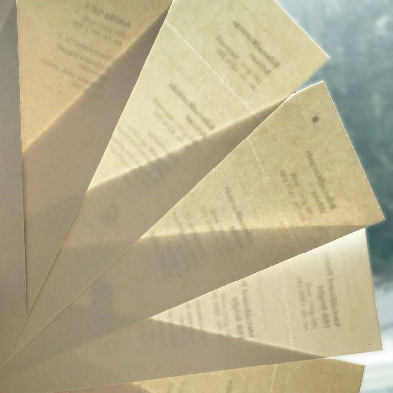 Papiermuster in ausgiebigen Designprozess mit user tests evaluiert