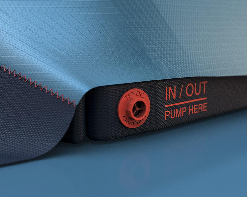 Ventil aufblasbares Industriedesign Outdoor Konzept Tendo