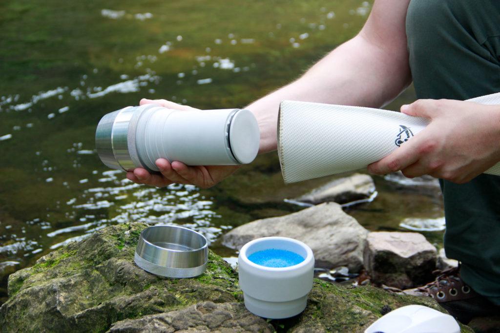 Nachhaltige Produktentwicklung auch in Kriesengebieten - Wasserfilter