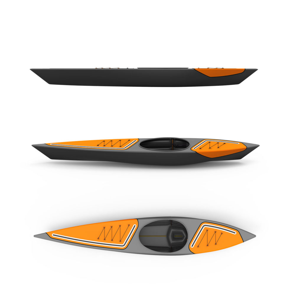 Kanu Kayak Ansichten Outdoor Design Konzept
