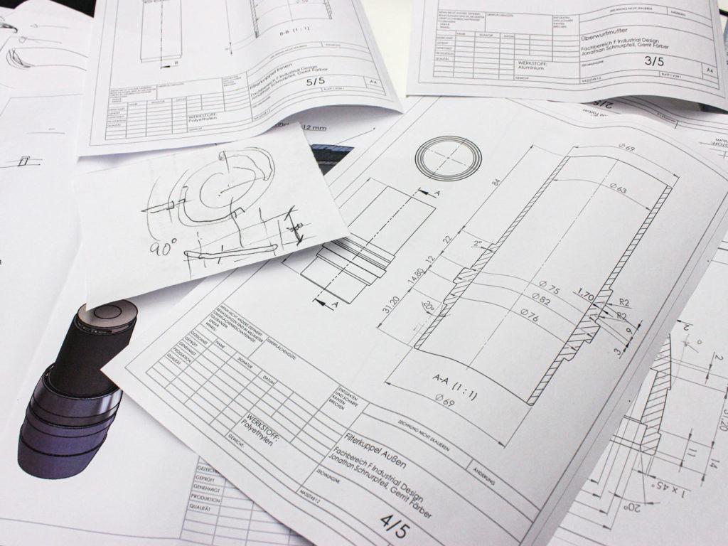 Technische Zeichnung Industriedesign Köln Detailverliebt